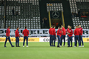 England players warm up during the International Friendly match between Germany and England at Signal Iduna Park, Dortmund, Germany on 22 March 2017. Photo by Phil Duncan.