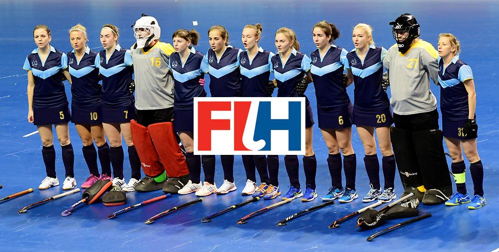 BERLIN - Indoor Hockey World Cup<br /> Women: Ukraine - Australia<br /> foto: Ukraine<br /> WORLDSPORTPICS COPYRIGHT FRANK UIJLENBROEK