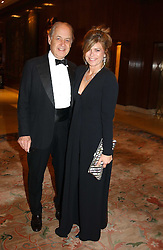 SIR JOHN & LADY LEON he is actor John Standing and she is Sarah Forbes daughter of Brian Forbes and Nanette Newman at the Conde Nast Traveller magazine Tsunami Appeal Dinner at the Four Seasons Hotel, Hamilton Place, London W1 on 2nd March 2005.<br />