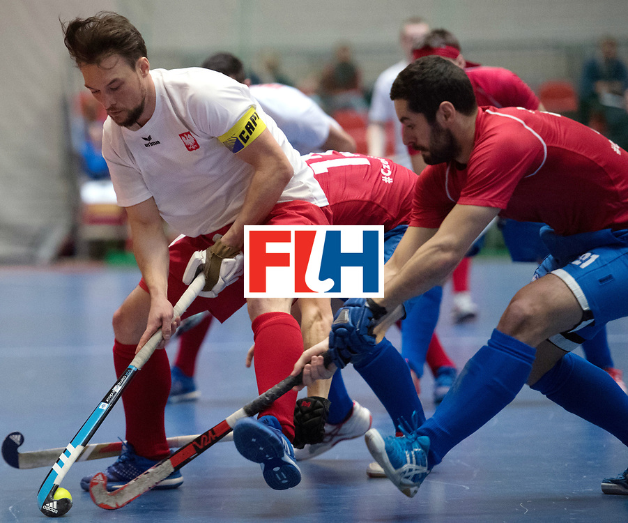 BERLIN - Indoor Hockey World Cup<br /> Czech Republic - Poland<br /> foto: Bartosz Zywiczka <br /> WORLDSPORTPICS COPYRIGHT FRANK UIJLENBROEK