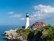 View of the Portland Head Lighthouse, near Portland, Maine, USA.
