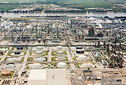 Aerial view of ExxonMobil refinery in Baton Rouge, Louisiana