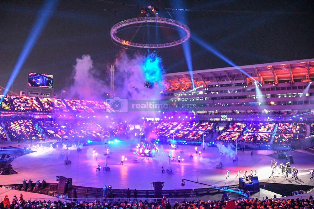 February 10, 2018 - Pyeongchang-Gun, Gangwon, South Korea - Opening ceremony at 2018 Pyeongchang winter olympics at Pyeongchang olympic stadium, Pyeongchang, South Korea. February 09, 2018. Ulrik Pedersen/Nurphoto  (Credit Image: © Ulrik Pedersen/NurPhoto via ZUMA Press)
