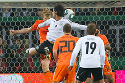 15.11.2011, Imtech Arena, Hamburg, GER, FSP, Deutschland (GER) vs Holland (NED), im Bild Dirk Kuyt (NED #07 Liverpool FC) Sami Khedira (GER #06 Madrid) // during the Match Gemany (GER) vs Netherland (NED) on 2011/11/15,  Imtech Arena, Hamburg, Germany. EXPA Pictures © 2011, PhotoCredit: EXPA/ nph/ Kokenge..***** ATTENTION - OUT OF GER, CRO *****