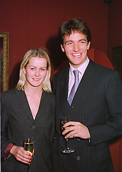 MISS EMMA PARKER BOWLES and MR FERGUS GRAHAM  <br /> at an exhibition in London on 12th November 1997.<br /> MDF 42