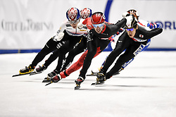 February 9, 2019 - Torino, Italia - Foto LaPresse/Nicolò Campo .9/02/2019 Torino (Italia) .Sport.ISU World Cup Short Track Torino - Men 1500 meters Final A .Nella foto: Steven Dubois guida il gruppo..Photo LaPresse/Nicolò Campo .February 9, 2019 Turin (Italy) .Sport.ISU World Cup Short Track Turin - Men 1500 meters Final A.In the picture: Steven Dubois leads the pack (Credit Image: © Nicolò Campo/Lapresse via ZUMA Press)