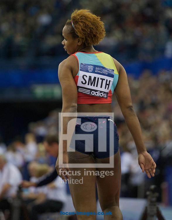 Picture by Alan Stanford/Focus Images Ltd +44 7915 056117.16/02/2013.Trecia Smith JAM (triple jump) pictured during the British Athletics Grand Prix at Birmingham Indoor Arena, Birmingham.