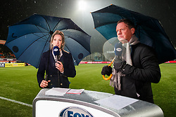 (L-R) Helene Hendriks of Fox, Mario Been of Fox during the Dutch Eredivisie match between sbv Excelsior Rotterdam and ADO Den Haag at Van Donge & De Roo stadium on March 16, 2018 in Rotterdam, The Netherlands