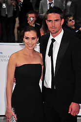 © licensed to London News Pictures. London, UK  22/05/11 Jessica Taylor and Kevin Pietersen attends the BAFTA Television Awards at The Grosvenor Hotel in London . Please see special instructions for usage rates. Photo credit should read AlanRoxborough/LNP