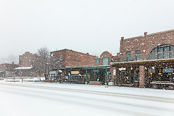 """Downtown Truckee 51"" - Photograph of historic Downtown Truckee, California shot during a snow storm."