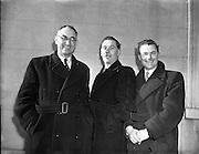 01/02/1953<br /> 02/01/1953<br /> 01 February 1953<br /> Cork Athletic Football Club directors and members. (l-r): J.J. O'Sullivan, Vice chairman; D. Forde, Secretary; D. Fitzgibbon, Director.