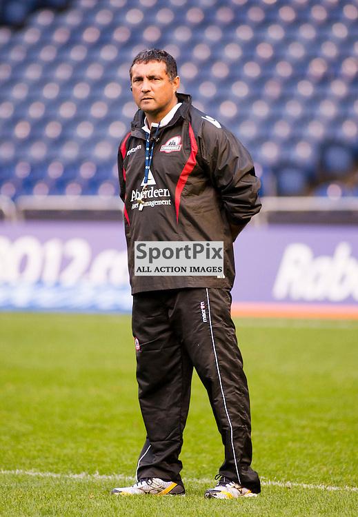 Edinburgh Head Coach Michael Bradley, Edinburgh Rugby v Cardiff Blues, RaboDirect Pro12 League