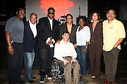 l to r: Josh X, Musa, and Hal Jackson with WBLS Executive at The Josh X showcase sponsored by MusaEntertainment and held at SOB's on August 27, 2009 in New York City