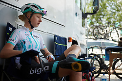 Mikayla Harvey (NZL) before Stage 9 of 2019 Giro Rosa Iccrea, a 125.5 km road race from Gemona to Chiusaforte, Italy on July 13, 2019. Photo by Sean Robinson/velofocus.com