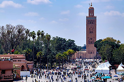 The Koutoubia Mosque or Kutubiyya Mosque in Marrakech, Morocco, North Africa<br /> <br /> (c) Andrew Wilson | Edinburgh Elite media