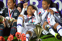 Joie Lyon - Wendie RENARD - 18.04.2015 - Montpellier / Lyon - Finale Coupe de France -Calais<br />