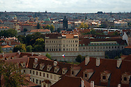 A view of the skyline of Prague from the castle grounds.