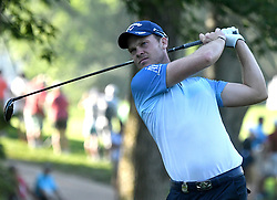 August 9, 2018 - St. Louis, Missouri, U.S. - ST. LOUIS, MO - AUGUST 09: Danny Gillett of England tees off on the #11 hole during the first round of the PGA Championship on August 09, 2018, at Bellerive Country Club, St. Louis, MO.  (Photo by Keith Gillett/Icon Sportswire) (Credit Image: © Keith Gillett/Icon SMI via ZUMA Press)