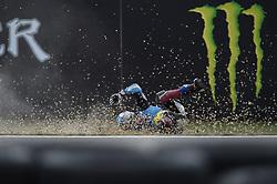 August 5, 2018 - Brno, Brno, Czech Republic - big crash for  73 Spanish driver Alex Marquez of Team EG 0,0 Marc VDS during race in Brno Circuit for Czech Republic Grand Prix in Brno Circuit on August 5, 2018 in Brno, Czech Republic. (Credit Image: © Andrea Diodato/NurPhoto via ZUMA Press)