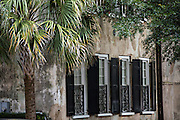 Shutters on a historic home on State Street in Charleston, SC.