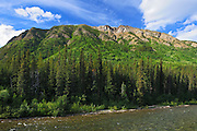 Cottonwood River and the Cassiar Mountains<br /> Stewart Cassiar Highway<br /> British Columbia<br /> Canada
