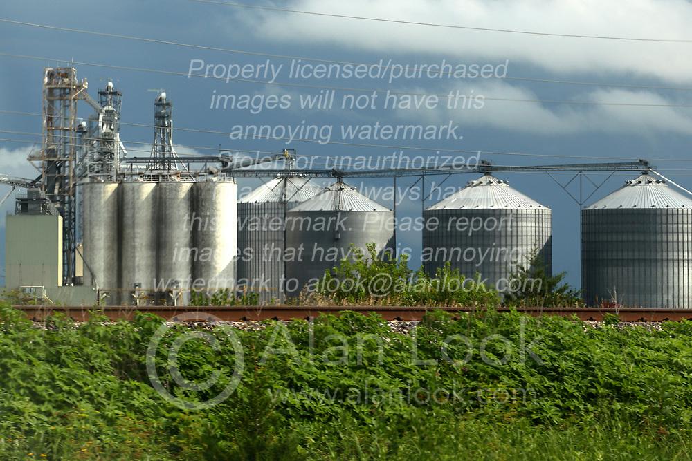 Grain processing facility and grain elevator in central Illinois