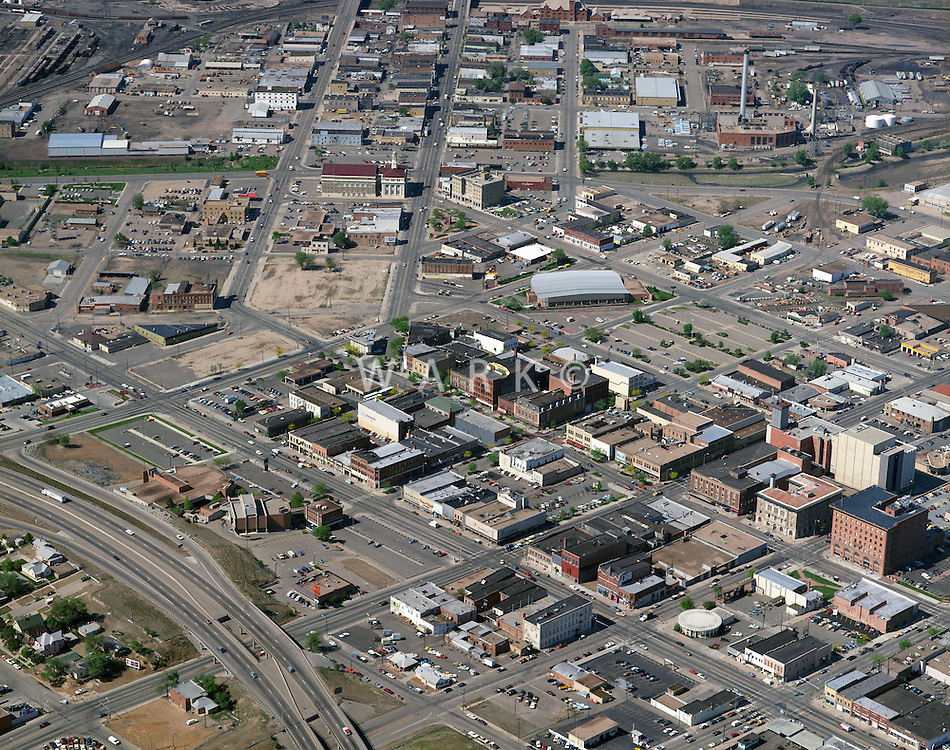 1990 circa aerial of Pueblo, CO