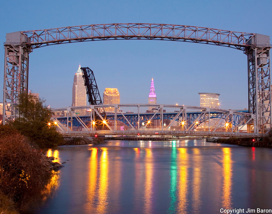 Cleveland, Ohio skyline from Cuyahoga River