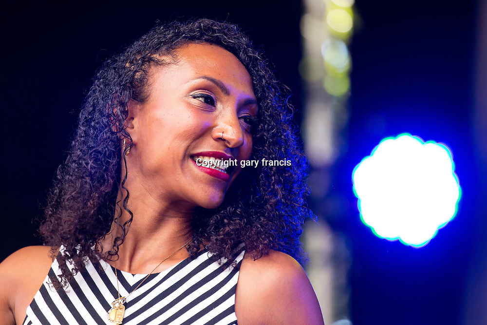 Alsarah and the Nubatones from Brooklyn play at Womadelaide 2016 Music Festival held between 11 - 14 March 2016 in Adelaide, South Australia