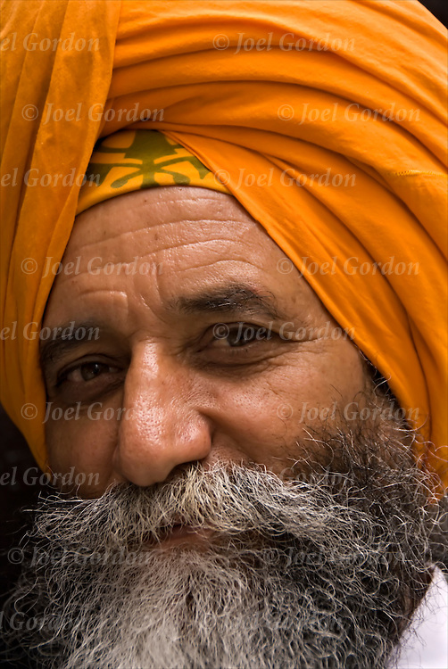 Portrait of Sikh during the Celebration of Vaisaakhee in NYC, 21st Annual Sikh Day Parade