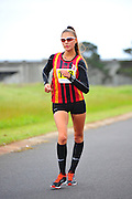 CAPE TOWN, SOUTH AFRICA - OCTOBER 10: Udelle De Winnaar of CGA in the Junior women 10km during the South African Race Walking Championship at Youngsfield Military Base on October 10, 2015 in Cape Town, South Africa. (Photo by Roger Sedres/ImageSA)