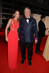 GEORGIE RYLANCE and GIUSEPPE CIARDI at the IWC Schaffhausen Gala Dinner in honour of the British Film Institute held at the Battersea Evolution, Battersea Park, London on 7th October 2014.