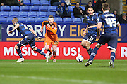 Freddie Sears, Ipswich Town forward tries to find some space in the box during the Sky Bet Championship match between Bolton Wanderers and Ipswich Town at the Macron Stadium, Bolton, England on 8 March 2016. Photo by Simon Brady.