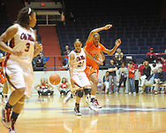 "Ole Miss' Kayla Melson (20) vs. Auburn in women's college basketball at the C.M. ""Tad"" SMith Coliseum in Oxford, Miss. on Thursday, February 25, 2010."