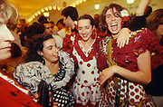 Girls in polka dots having fun at the annual ?Feria? in Jerez de la Frontera.