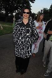 BIANCA JAGGER at the annual Serpentine Gallery Summer Party in association with Swarovski held at the gallery, Kensington Gardens, London on 11th July 2007.<br />