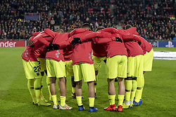 November 28, 2018 - Eindhoven, Netherlands - FC Barcelona team pictured during the UEFA Champions League Group B match between PSV Eindhoven and FC Barcelona at Philips Stadium in Eindhoven, Netherlands on November 28, 2018  (Credit Image: © Andrew Surma/NurPhoto via ZUMA Press)