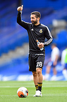 Football - 2019 / 2020 Premier League - Chelsea vs. Wolverhampton Wanderers<br /> <br /> Wolverhampton Wanderers' Joao Moutinho during the pre-match warm-up, at Stamford Bridge.<br /> <br /> COLORSPORT/ASHLEY WESTERN