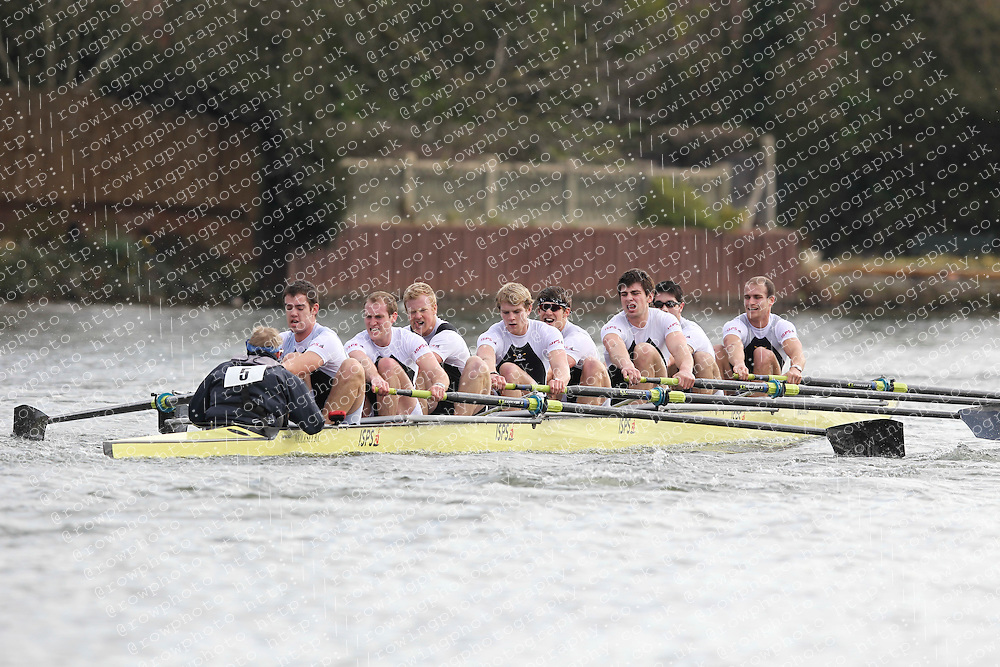 2012.02.25 Reading University Head 2012. The River Thames. Division 1. Molesey Boat Club - Elite 8+
