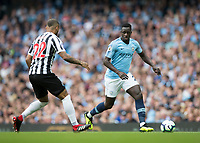 Football - 2018 / 2019 Premier League - Manchester City vs. Newcastle United<br /> <br /> Benjamin Mendy of Manchester City at The Etihad.<br /> <br /> COLORSPORT