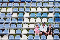 Supporters in 1st round of singles at 25th Vegeta Croatia Open Umag, on July 22, 2014, in Stella Maris, Umag, Croatia. Photo by Urban Urbanc / Sportida