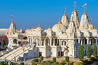 Inde; Gujarat, Kutch, nouveau temple Swaminarayan // India, Gujarat, Kutch, Bhuj, new Swaminarayan temple