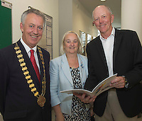 Mayor of County Galway Cllr Liam Carroll , Martina Maloney County manager and  Independent Chair of the Galway Age Friendly Alliance, Iggy O&rsquo;Mhuircheartaigh and Miche&aacute;l O&rsquo;Mhuircheataigh <br />  at NUIG for the launch of the Galway Age Friendly Strategy, which sets out a plan to make Galway City and County a great place in which to grow up and grow old. The Strategy was developed following extensive consultation with older people across the city and county and aims to ensure that older people continue to be supported to play an active role in their communities. The launch of the strategy is an important milestone as it sets out a blueprint for how we will plan and develop communities in the coming years to ensure that Galway is a truly great place in which to grow up and grow old. Photo:Andrew Downes