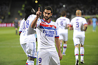 FOOTBALL - FRENCH CHAMPIONSHIP 2010/2011 - L1 - OLYMPIQUE LYONNAIS v OLYMPIQUE MARSEILLE - 8/05/2011 - PHOTO JEAN MARIE HERVIO / DPPI -  JOY LISANDRO LOPEZ (OL) AFTER HIS GOAL