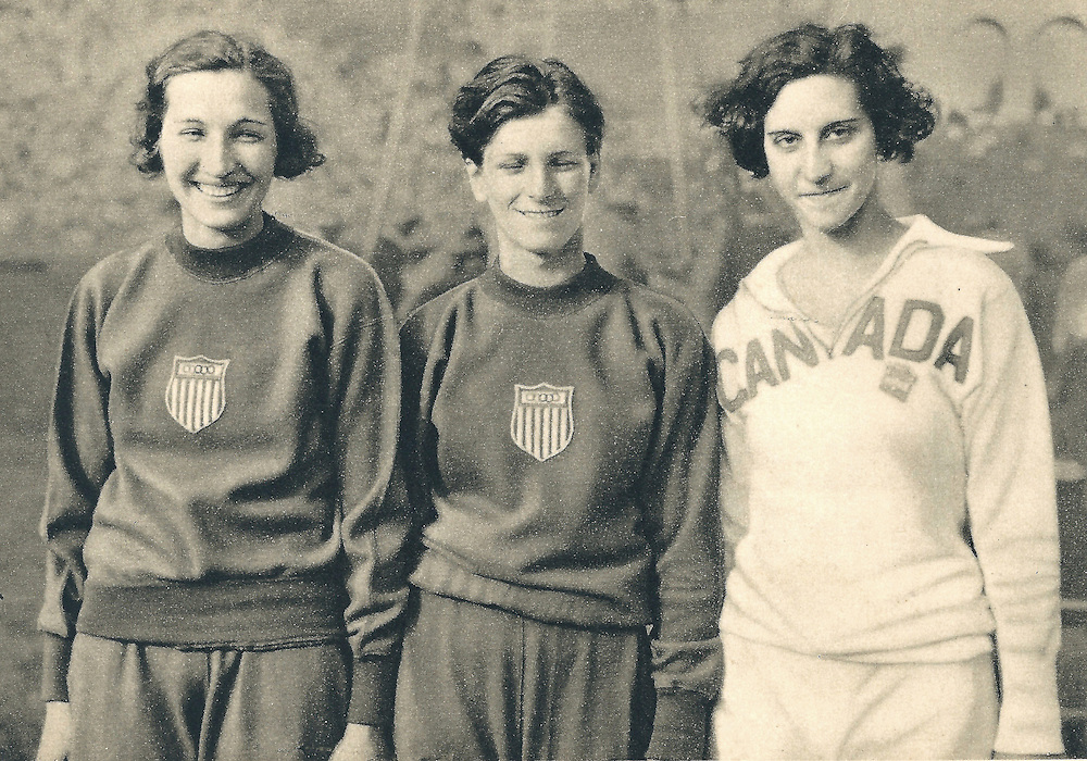 _Babe Didrikson Zaharias competing and winning gold at hurdles in 1932 Olympics Games in Los Angeles, USA. She would later become an accomplished LPGA golf professional.