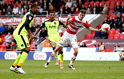 Ollie Watkins of Exeter City shoots at goal - Mandatory by-line: Robbie Stephenson/JMP - 29/04/2017 - FOOTBALL - The Keepmoat Stadium - Doncaster, England - Doncaster Rovers v Exeter City - Sky Bet League Two
