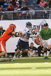 10 April 2010: North Carolina Tar Heels attackman Marcus Holman (1) during a 7-5 loss to the Virginia Cavaliers at the New Meadowlands Stadium in the Meadowlands, NJ.