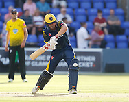 Glamorgan's Aneurin Donald strikes the ball<br /> <br /> Photographer Simon King/Replay Images<br /> <br /> Vitality Blast T20 - Round 8 - Glamorgan v Gloucestershire - Friday 3rd August 2018 - Sophia Gardens - Cardiff<br /> <br /> World Copyright &copy; Replay Images . All rights reserved. info@replayimages.co.uk - http://replayimages.co.uk