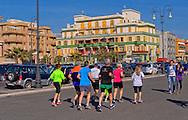 Lido di Ostia, Roma<br />  Jogging sul Lungomare Paolo Toscanelli<br /> Lido di Ostia, Rome<br />  Jogging on Waterfront Paolo Toscanelli.