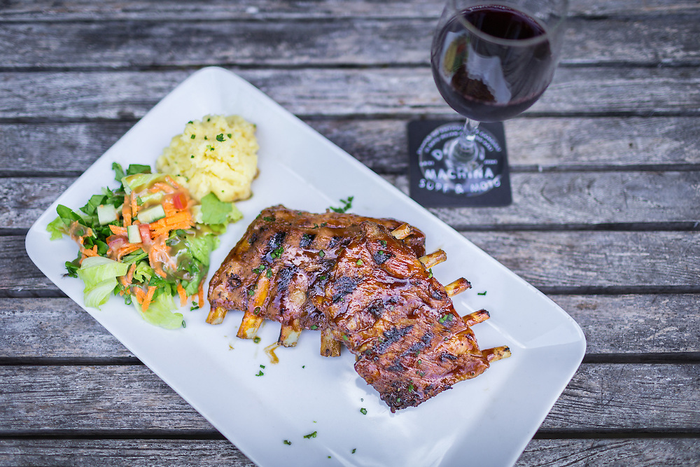 Pork Ribs with Red Wine.